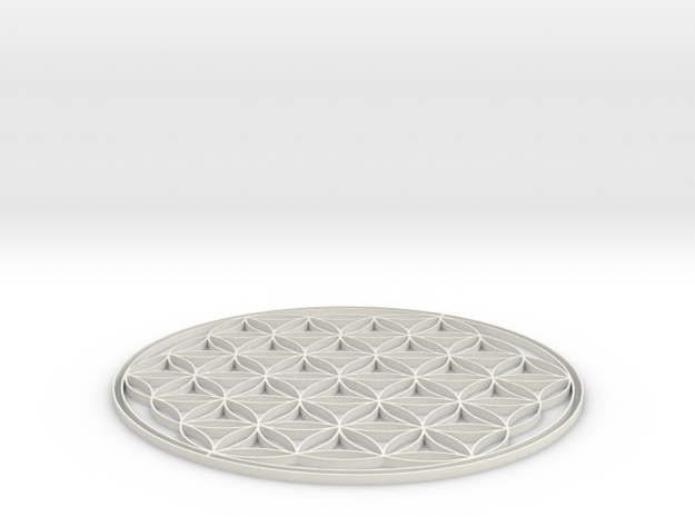 Flower of life coaster 70x2mm 3d printed