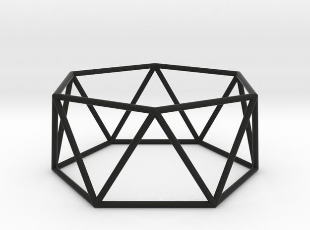 hexagonal antiprism 70mm 3d printed