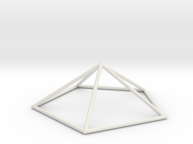 pentagonal pyramid 70mm in White Natural Versatile Plastic