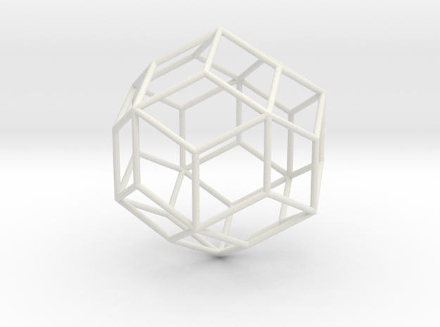 RhombicTriacontahedron 70mm in White Natural Versatile Plastic