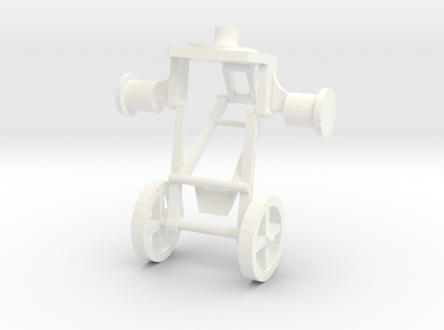 1:43 Trailer Jockey Wheels in White Processed Versatile Plastic