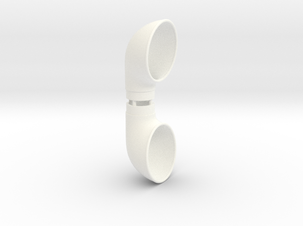 Cowl Vent, .625inch Tube Size in White Processed Versatile Plastic
