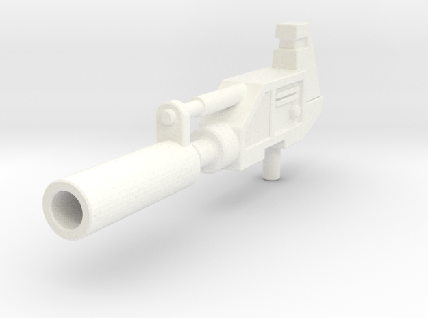 Prowldimus Gun  in White Strong & Flexible Polished