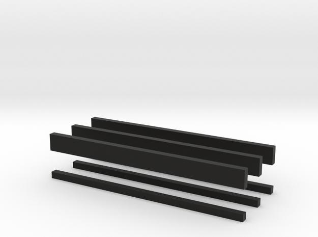 thin bars batch 2mm 3d printed