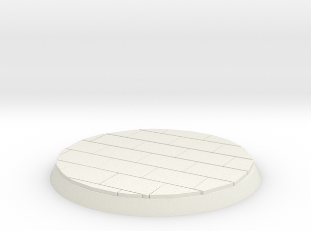 Brick Surface 30mm Base in White Strong & Flexible