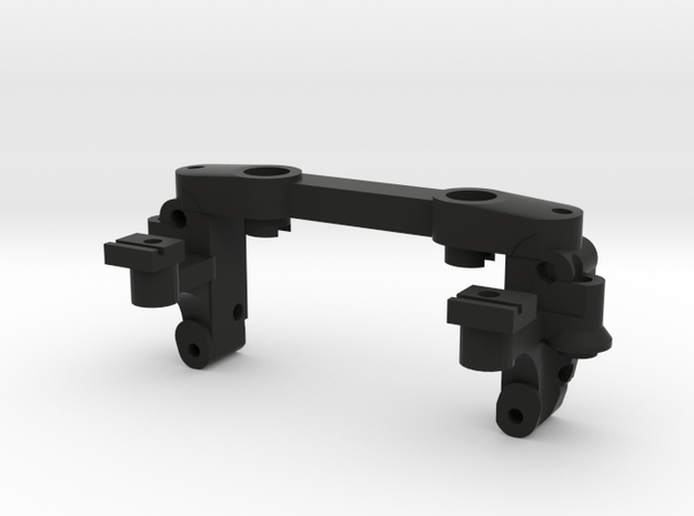 Mini-z double-A-arm mount V4 in Black Natural Versatile Plastic