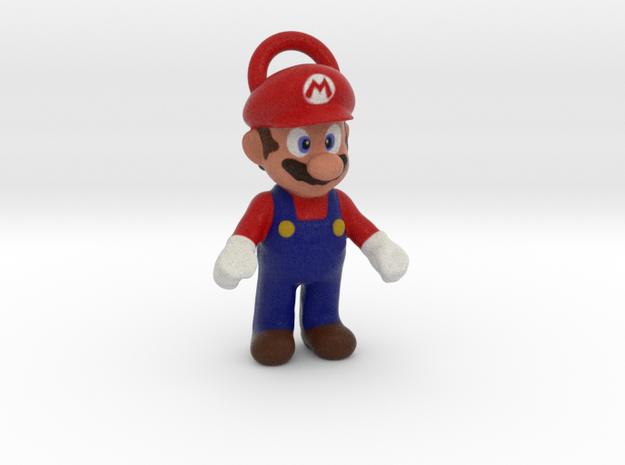 Super Mario - Keychain in Full Color Sandstone