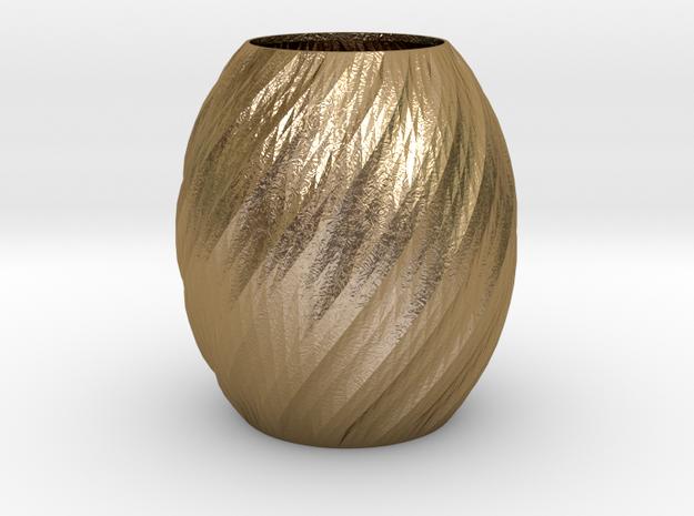 Vase Seven in Polished Gold Steel