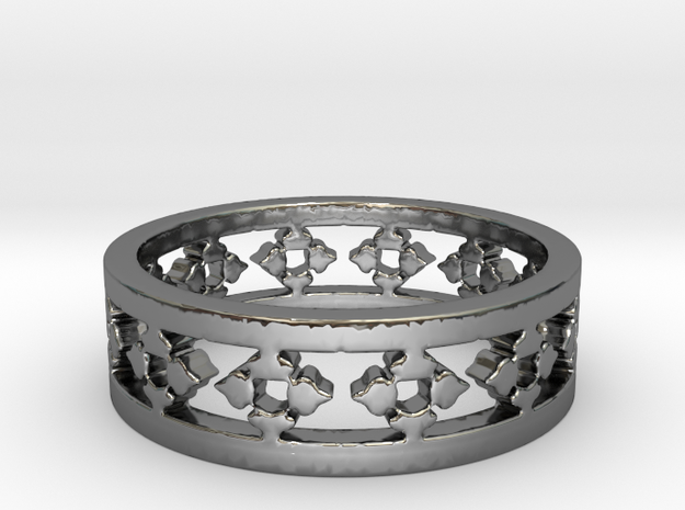 Endless Knight  Ring Size 5 in Premium Silver