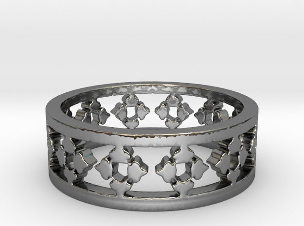 Endless Knight  Ring Size 8 in Premium Silver