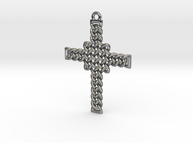 Celtic Knot Cross Pendant 30mm 3d printed