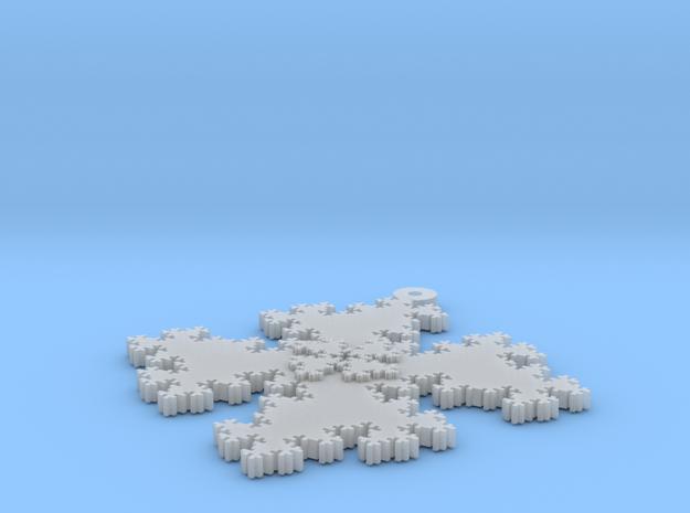 Quadratic Snowflake - 1 in Smooth Fine Detail Plastic