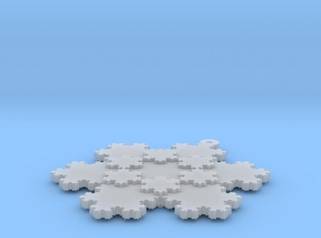 Koch Snowflake - 2 in Smooth Fine Detail Plastic