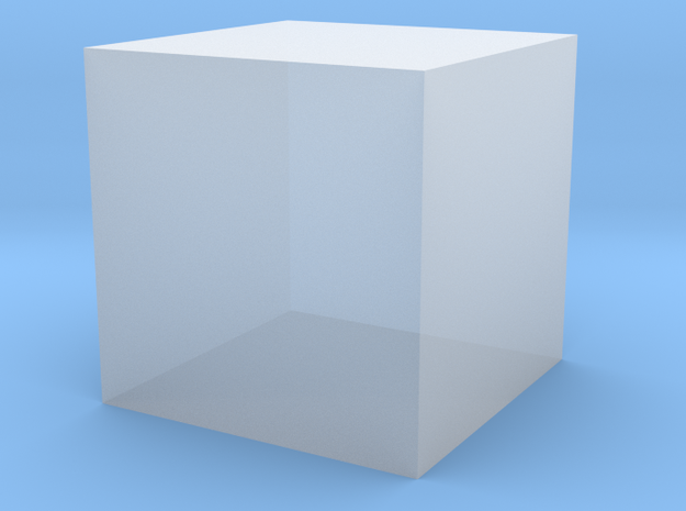 Cube-1cm3 in Frosted Ultra Detail