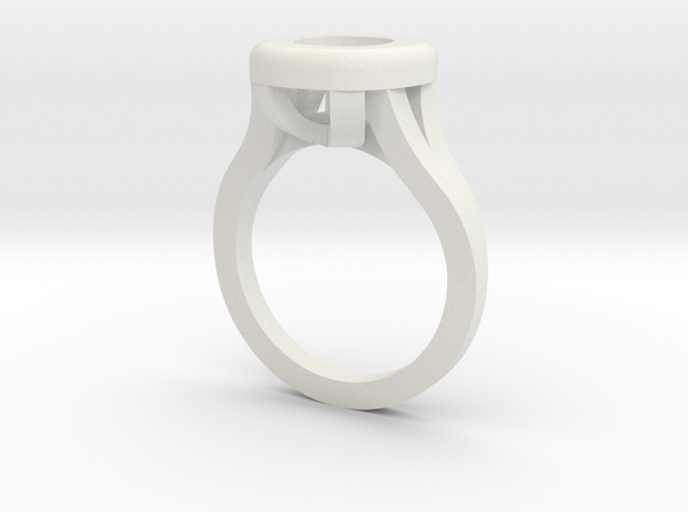 Cushion Ring Web in White Natural Versatile Plastic