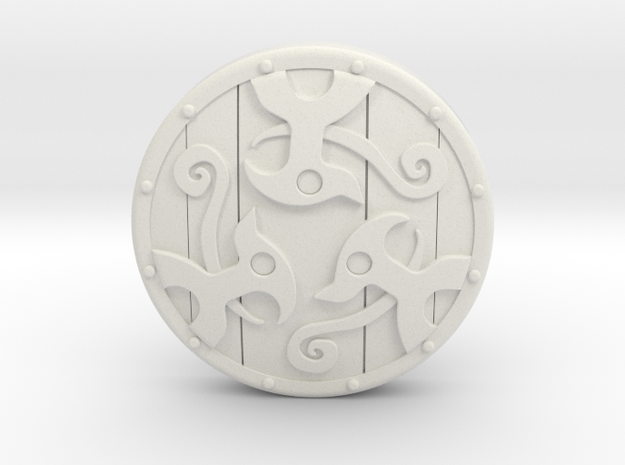 Braced Shield 3d printed Painted Frosted Ultra Detail