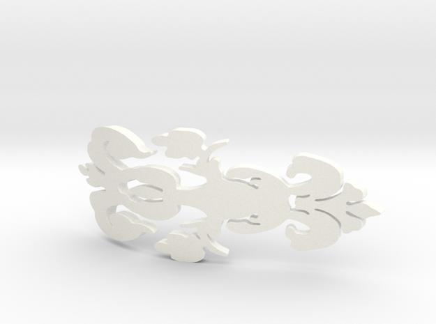 DAMASK in White Processed Versatile Plastic