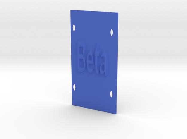 Lamella Personalizzata in Blue Processed Versatile Plastic