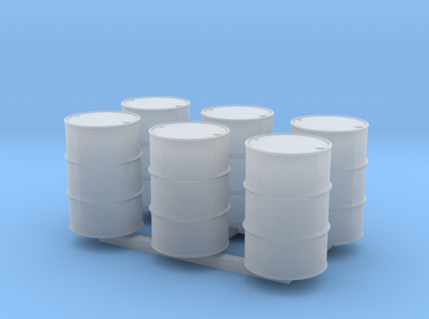 HO 55 Gallon Drum Hollow X 6 in Smooth Fine Detail Plastic