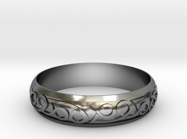 Celtic ring 02 in Polished Silver