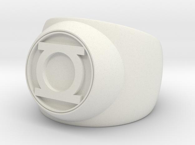 Green Lantern Ring- Size 4.5 in White Strong & Flexible