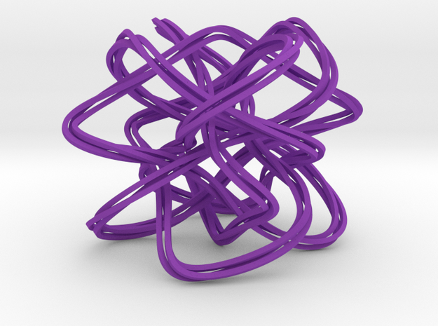Lissajous Knot Knot (5, 6, 7), (3, 37) in Purple Processed Versatile Plastic