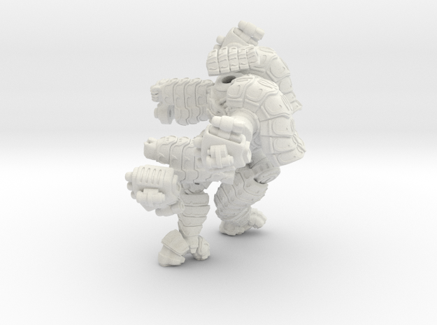 Mech suit with twin missile pods. (11) in White Natural Versatile Plastic