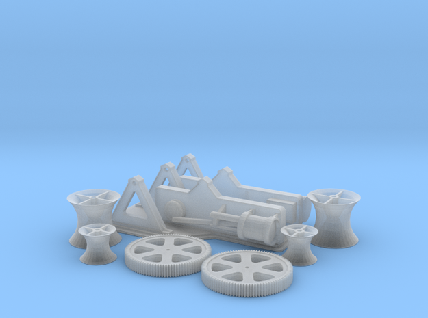 Steam Winches 1-72 in Smooth Fine Detail Plastic