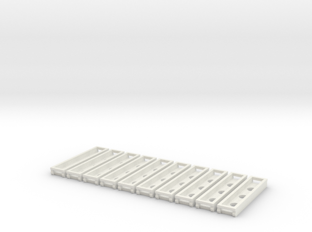 Rillengleis Abstandhalter 10x in White Natural Versatile Plastic