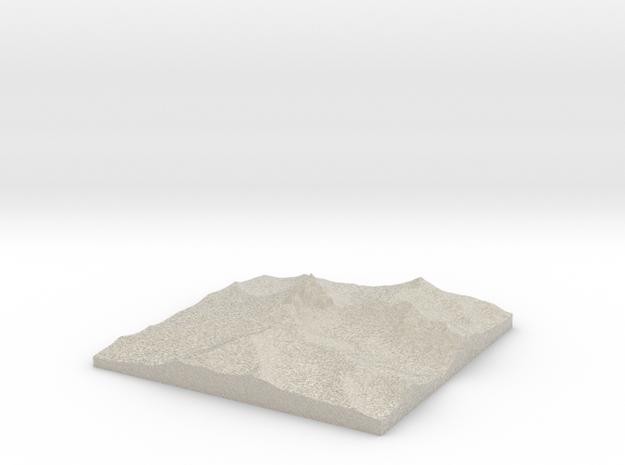 Model of Mount Thielsen 3d printed