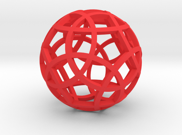 Stripsphere Pendant 3d printed