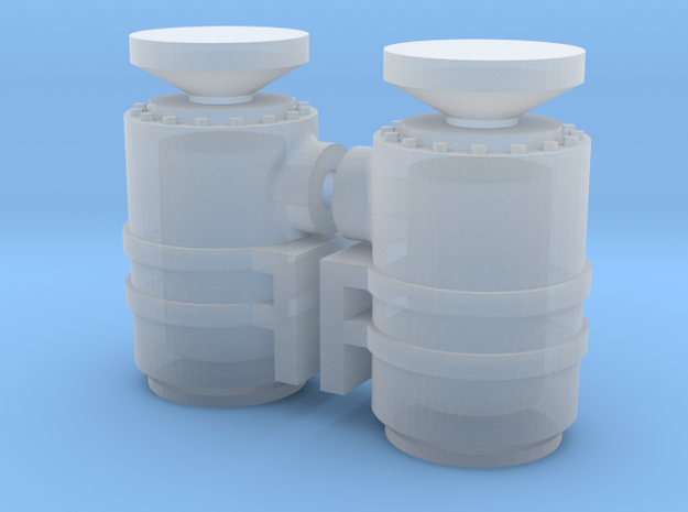 1/87th HO scale Air Cleaner pair for Semi trucks 3d printed