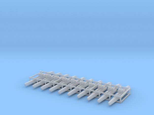 Type VIIC U-boat x10 1/1750 3d printed