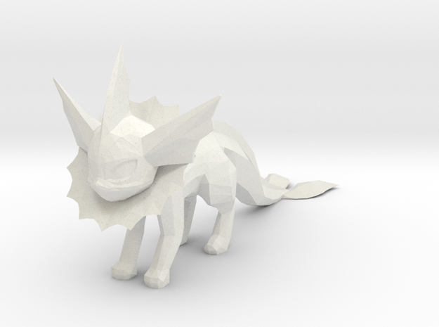 Vaporeon in White Natural Versatile Plastic
