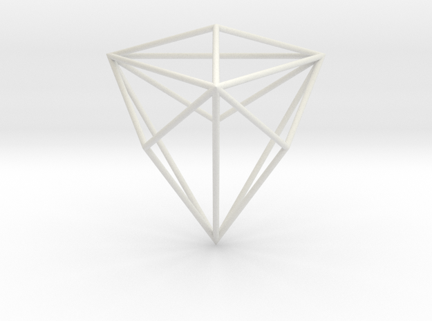 TriakisTetrahedron 70mm in White Natural Versatile Plastic