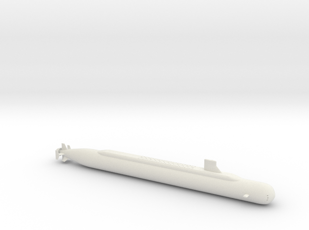 1/700 SSBN-X (Ohio Class Submarine Replacement Pro in White Natural Versatile Plastic
