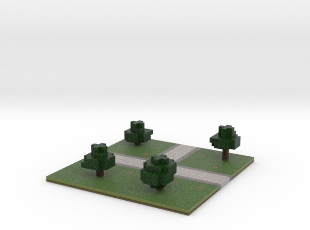 60x60 T path (trees) (2mm series) 3d printed