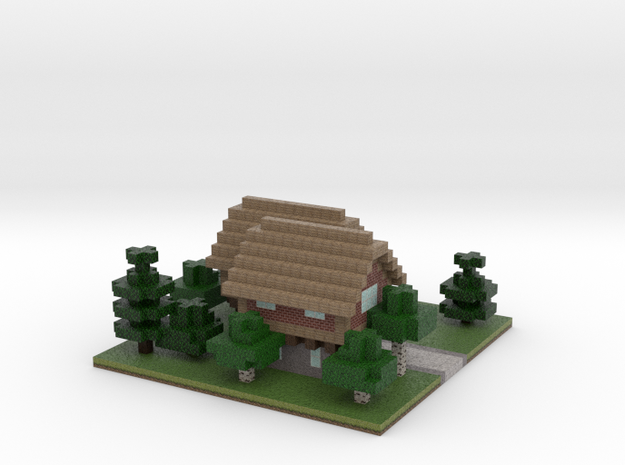 60x60 house01 (mix trees) (2mm series) 3d printed