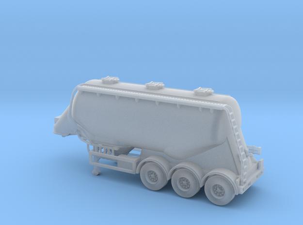 N scale 1/148 Feldbinder flour/grain trailer tank in Smooth Fine Detail Plastic