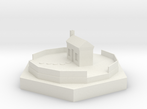 House 90mm in White Natural Versatile Plastic