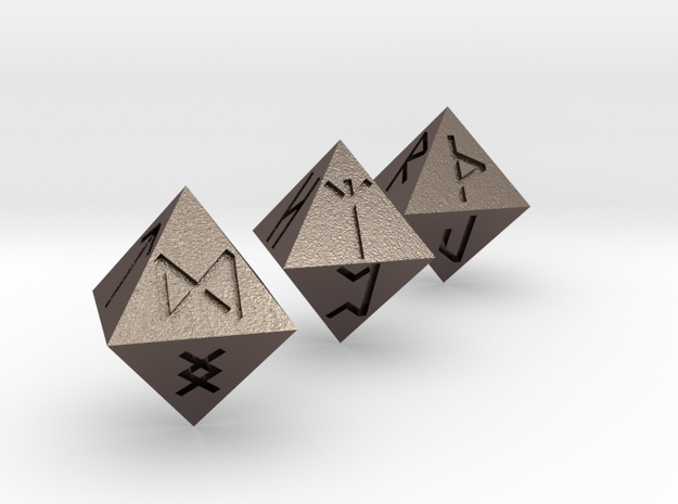 Rune Dice 3d printed