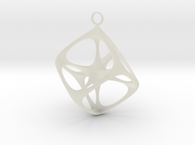 Soft Tesseract Pendant 3d printed