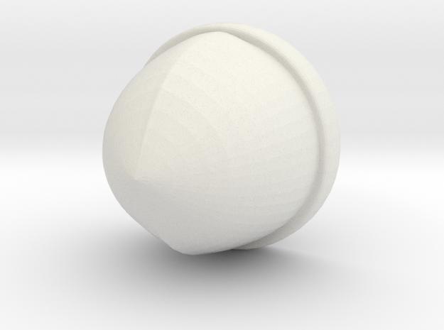 Norse Helmet in White Natural Versatile Plastic