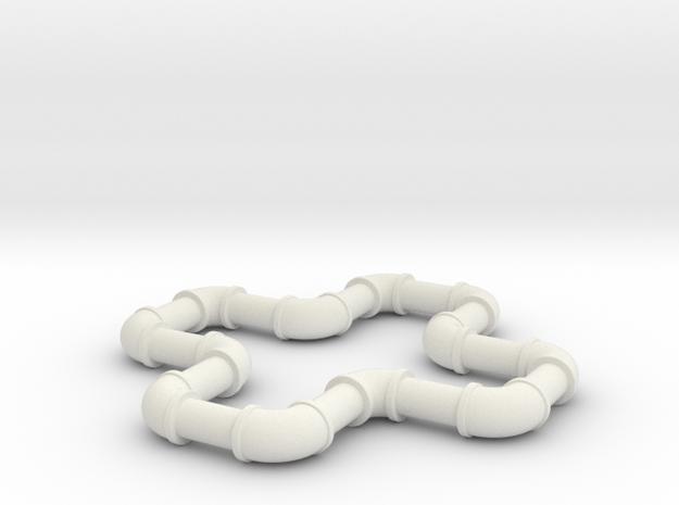 1 5 ell 90 in White Natural Versatile Plastic