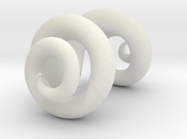 Miniature ram horns for Dollfie 3d printed