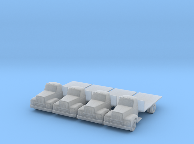 IH R190 Flatbed - Set of 4 - Nscale in Smooth Fine Detail Plastic