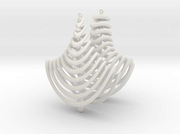 Earing Organic 01 in White Natural Versatile Plastic