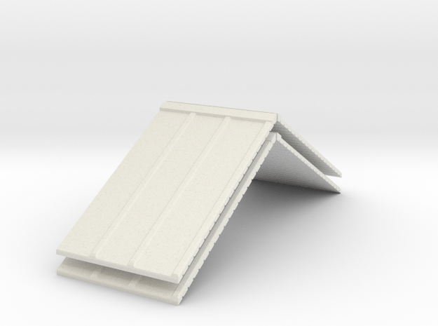 R1 25 Roof X 2  in White Natural Versatile Plastic