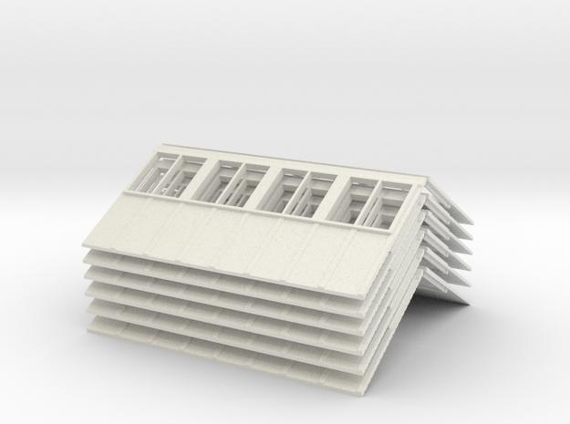 R1 81 Roof V2 X 6 in White Natural Versatile Plastic
