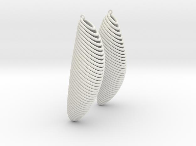 Earing Organic 02 in White Natural Versatile Plastic